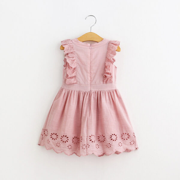 Chickari Cotton Pink Frock (1)