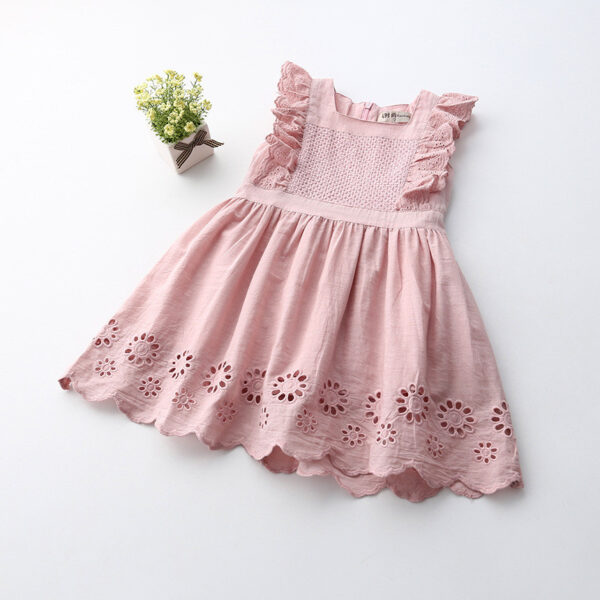 Chickari Cotton Pink Frock (2)