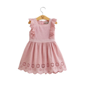 Chickari Cotton Pink Frock (3)