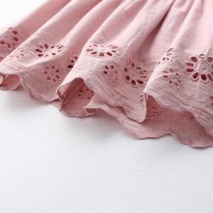 Chickari Cotton Pink Frock (4)