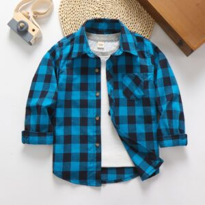 Cotton Button Down Check Shirt-Unisex (2)