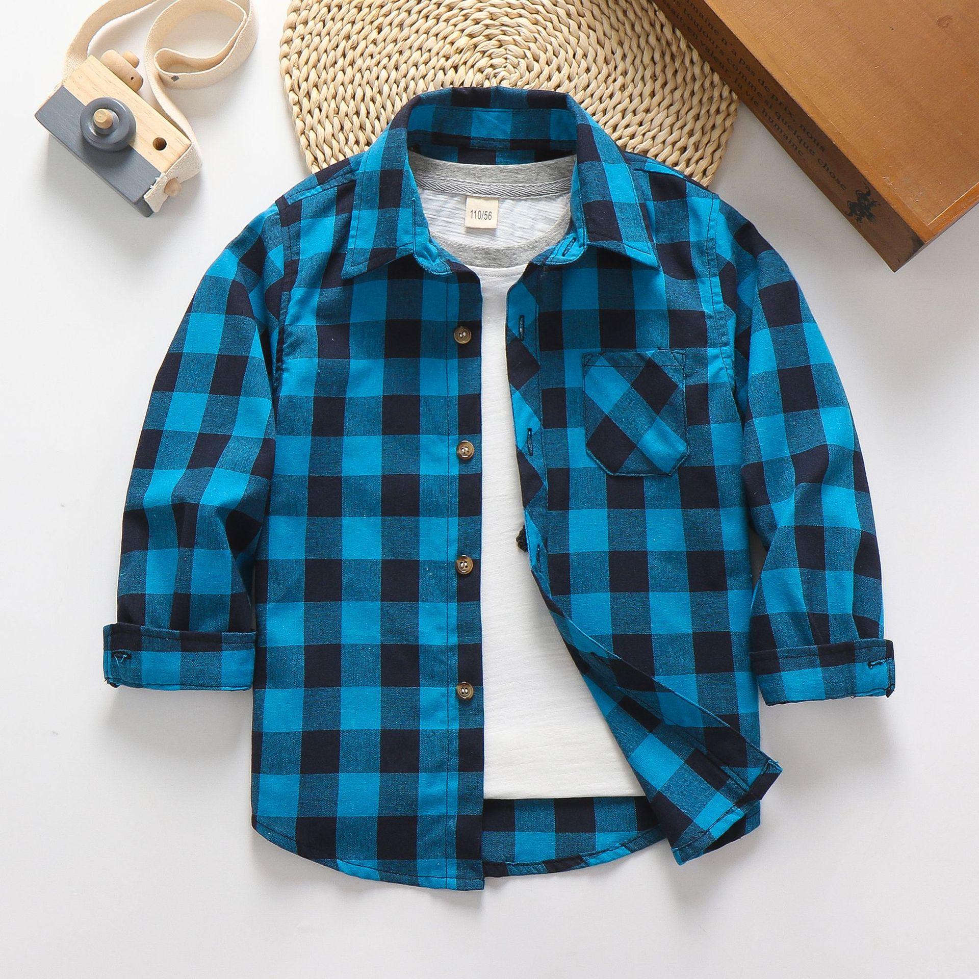 Cotton Button Down Check Shirt-Unisex (2)