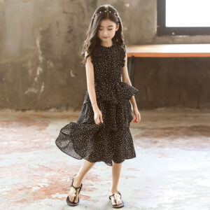Cotton Chiffon All Over Frock for Girls (3)