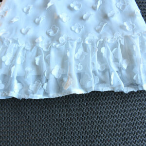 Cotton Net Floral Patch Cone Skirt (5)