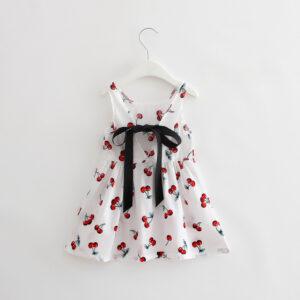 Cotton Sleeveless Printed Cherry Frock (5)