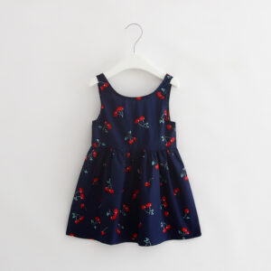 Cotton Sleeveless Printed Cherry Frock (6)