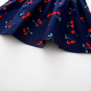 Cotton Sleeveless Printed Cherry Frock (7)