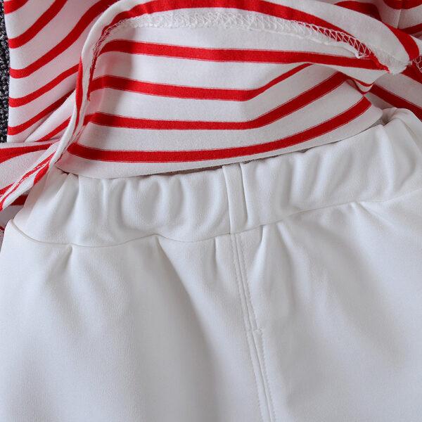White baby girl trouser