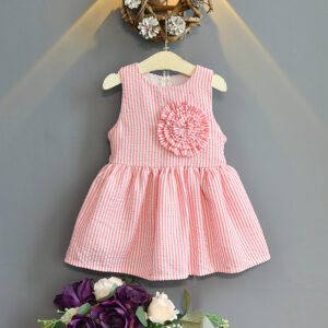 Flannel Cotton 2 Layers Sleeveless Frock (1)