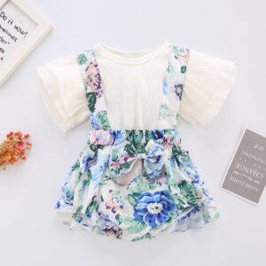 Floral Digital Print Frock for Baby Girls (1)