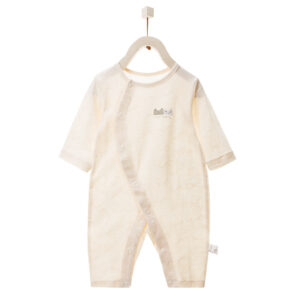 Front Open Cotton Made New Born Romper (2)