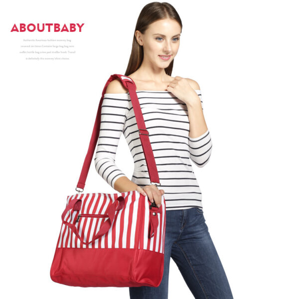 Red Stripped Baby Bag