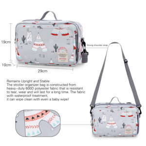 Compact Multi Compartment Mommy Diaper Bag (4)