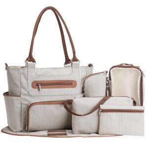 Six Piece Multi Pockets Tote Bag (6)