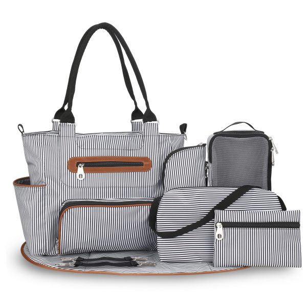 Six Piece Multi Pockets Tote Bag (1)