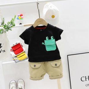 Black t shirt set